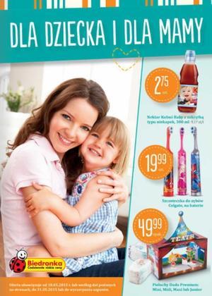 Kosmetyki i jedzenie dla dzieci w Biedronce 18 maja – 31 maja 2015