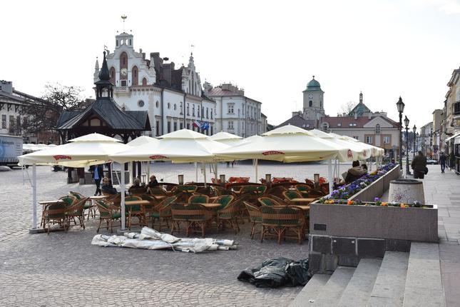 Pierwsze ogródki na rzeszowskim Rynku