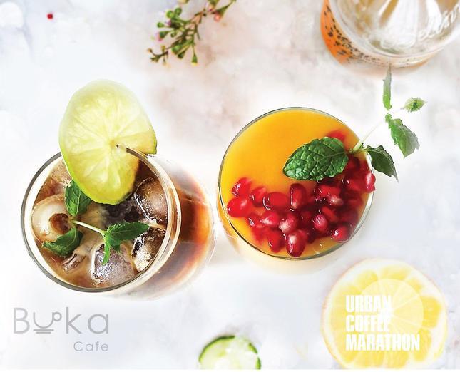 Kawiarnia Buka Cafe z Łańcuta: zestaw festiwalowy Espresso Tropik oraz Mango Tropik